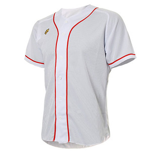 [DESCENTE] S212WLKT09 BASEBALL SHIRT 유니폼 상의 백적