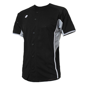 [DESCENTE] S212WLKT24 BASEBALL SHIRT 원정유니폼 상의 블랙